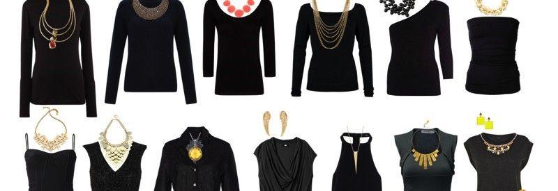 Как подобрать аксессуары к черному платью
