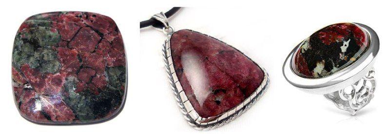 Каковы свойства камня эвдиалит?