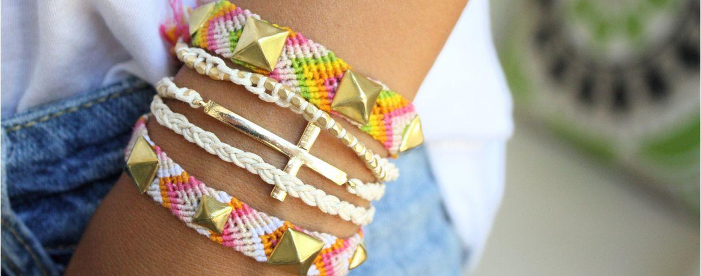 Как вязать браслеты для начинающих
